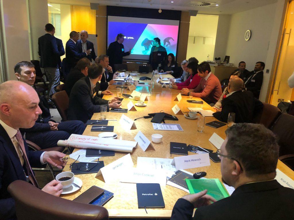 AI Pioneers meeting at Petrofac HQ 2018 London
