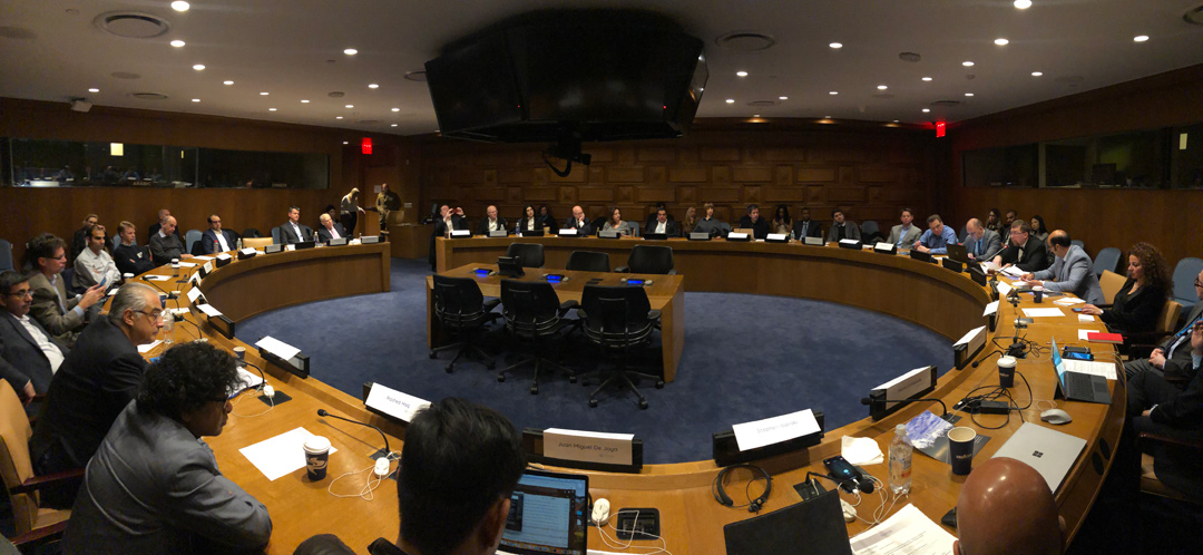 UN HQ AI Pioneers Roundtable 2018 - Mark chairing the meeting